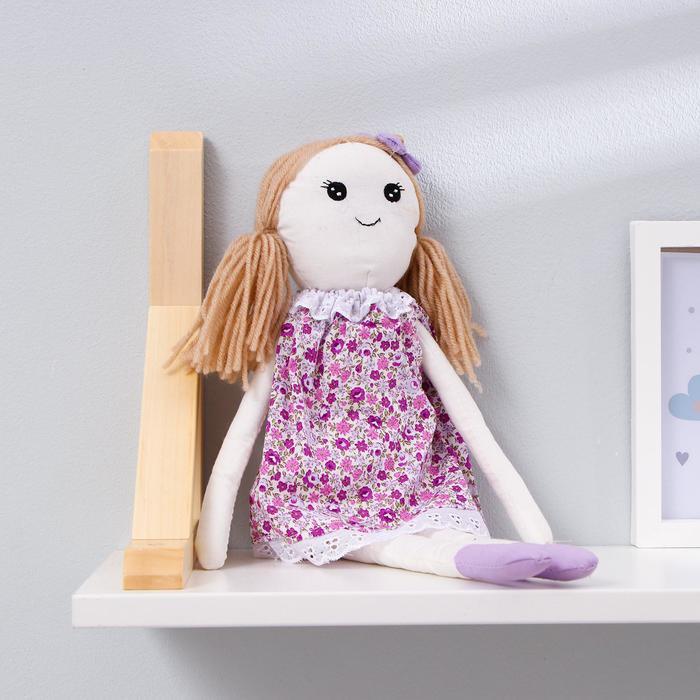 Мягкая игрушка-подвеска кукла «Людочка», цветочек на головке, цвета МИКС