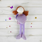 """Soft toy pendant doll """"Girl"""" legs and handles in polka dot MIX color"""