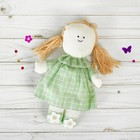 """Soft toy pendant doll """"Lyudmila"""" flowers on the head and legs, MIX color"""