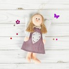 """Toy pendant """"angel"""" doll, heart stitches, MIX colors"""
