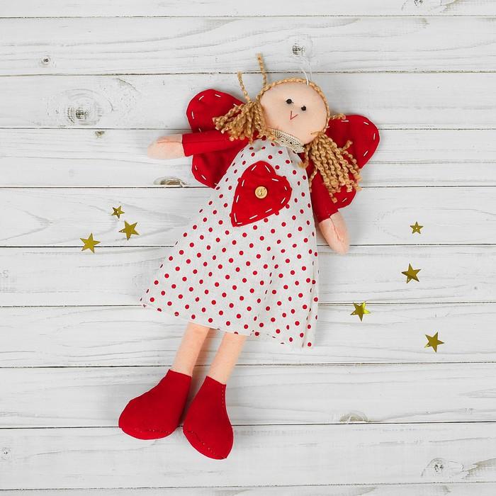 Мягкая игрушка-подвеска «Ангел-кукла», красные крылья, цвета МИКС