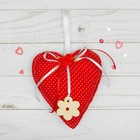 """Toy pendant """"Heart"""" with flower, MIX color"""