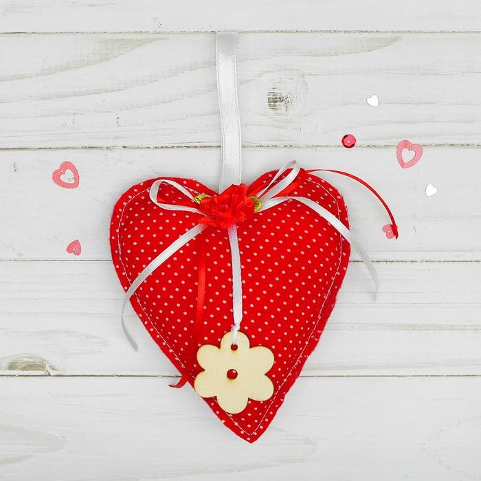 Подвеска «Сердце», с цветком, цвета МИКС