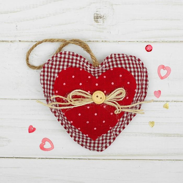 Подвеска «Двойное сердце», бантик с пуговкой, цвета МИКС