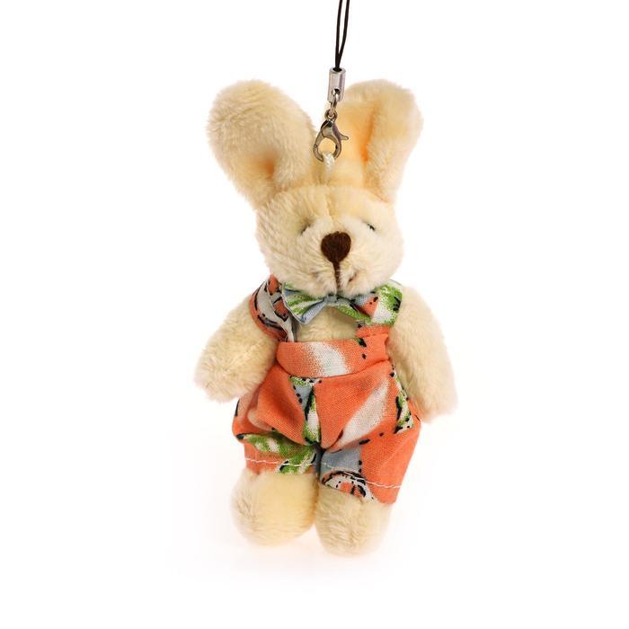 Мягкая игрушка-подвеска «Зайчик», тёмный носик, виды и цвета МИКС