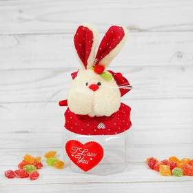 The candy bowl zainka, hearts on ears, 100 g, species MIX