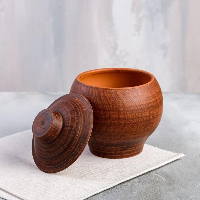 Горшочек для запекания 0,5 л, красная глина