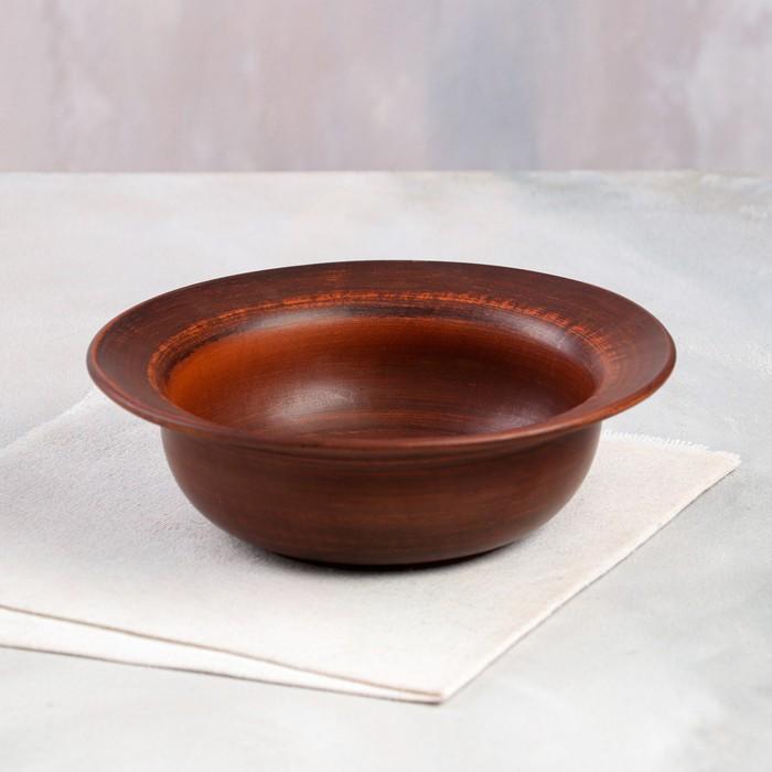 Миска 0,5 л, красная глина - фото 491607