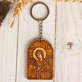 Брелок с молитвой «Пресвятой Богородицы Семистрельная», береста