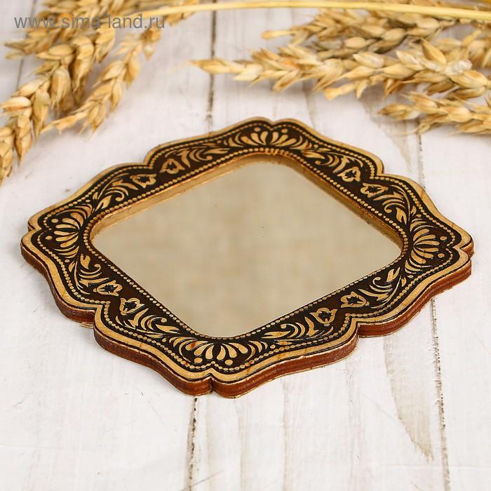 Зеркало «Девушка с коромыслом», береста
