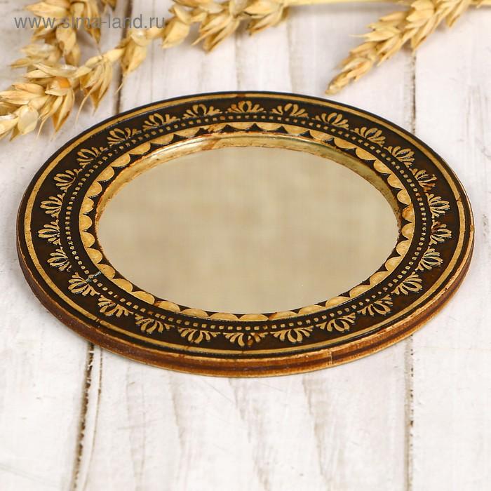 Зеркало «Узор», береста