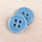 Пуговица, 4 прокола, 11 мм, цвет голубой