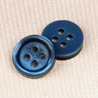 Пуговица блузочная/рубашечная, 4 прокола, 10мм, цвет тёмно-синий