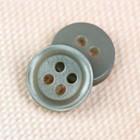 Пуговица блузочная/рубашечная, 4 прокола, 10мм, цвет серый