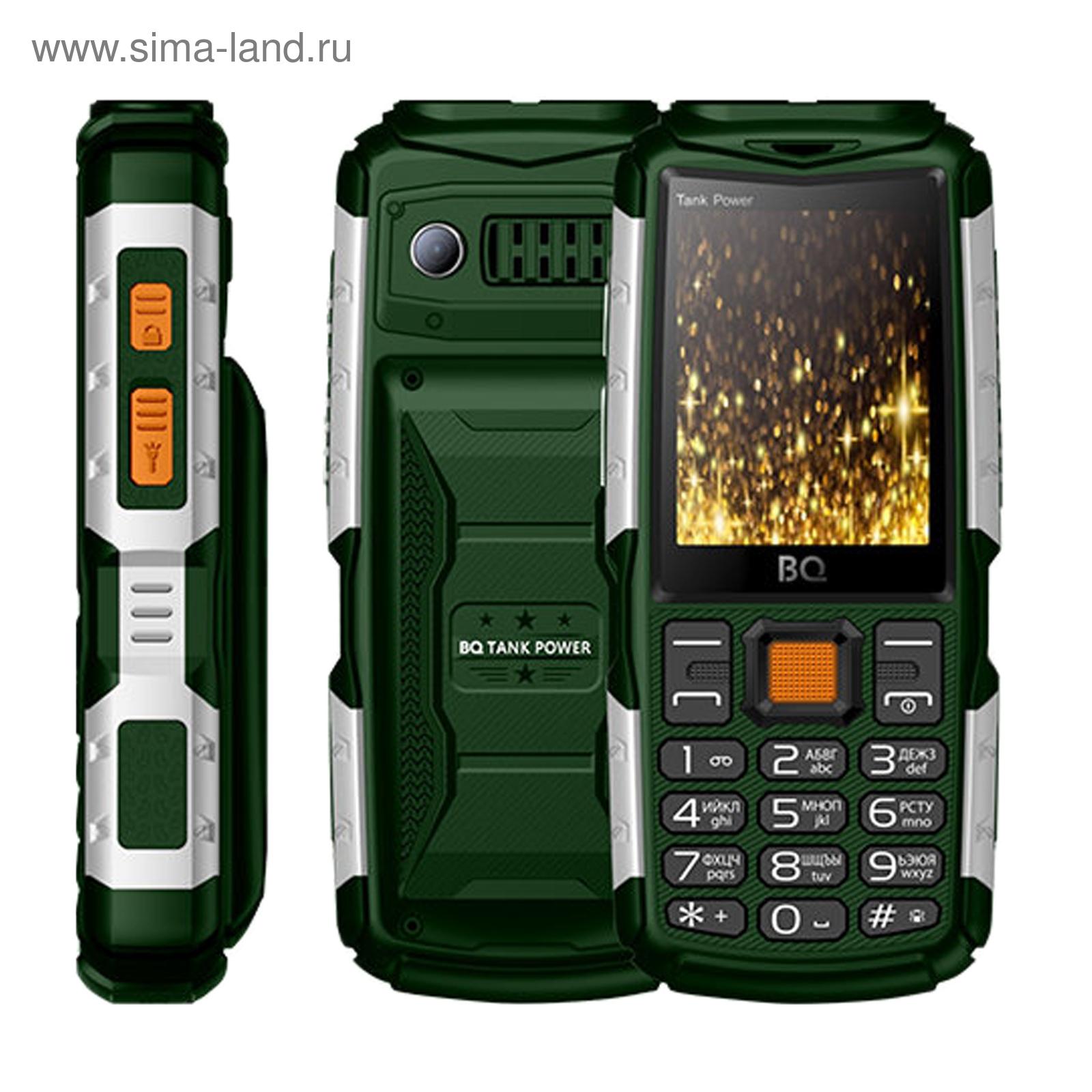 Сотовый телефон BQ M-2430 Tank Power Green Silver, цвет зеленый серебряный cf96bc321b5