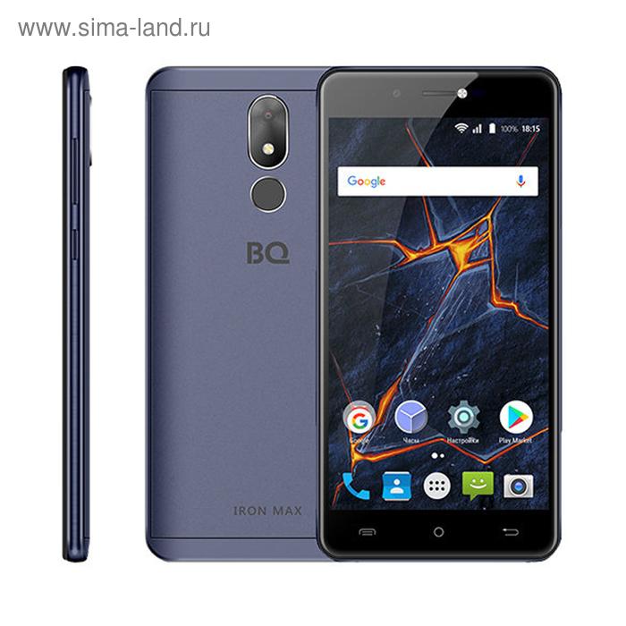 "Смартфон BQ S-5507L Iron Max LTE Sky Blue 5,5"" IPS,16Gb,2GbRAM,Fingerpr,цвет синий"