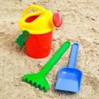 Наборы для игры в песке №18, лейка, грабельки , лопатка