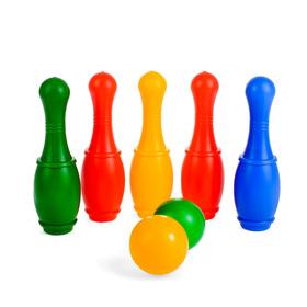 Боулинг 'Набор 33', цветной, 5 кеглей, 2 шара, в пакете Ош