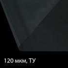 Плёнка полиэтиленовая, толщина 120 мкм, 3 × 10 м, рукав, прозрачная, Эконом