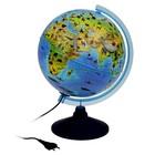Глобус зоогеографический, детский «Классик Евро», диаметр 250 мм, с подсветкой