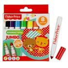 Фломастеры утолщенные 8 цветов Mattel Jumbo Fisher Price