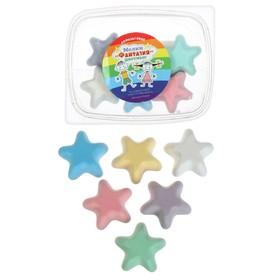 Мелки цветные для асфальта 6 штук «Фантазия», в форме звёздочки