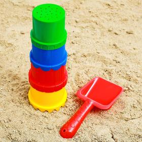 Set for playing in the sand, mix colors.