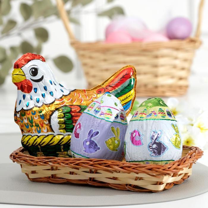 """""""Курица и яйца""""в корзинке 150 г"""