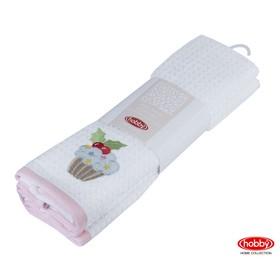 КМП Candy, 40 х 60 см - 2 шт, розовый / белый