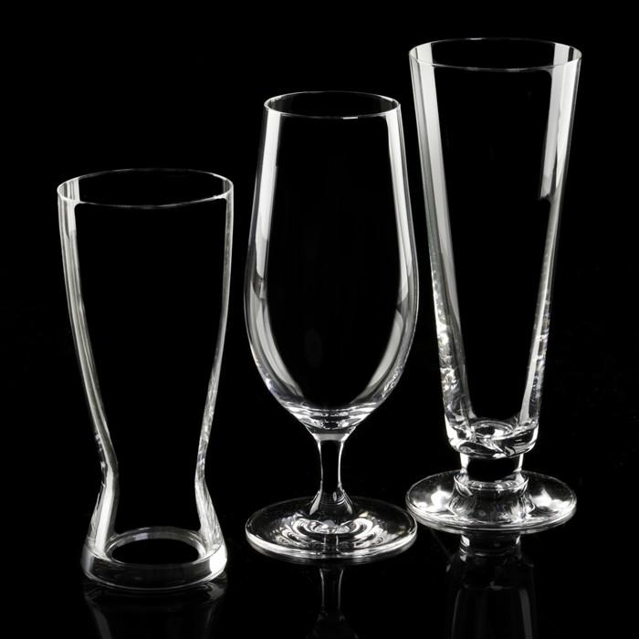 """Набор бокалов для пива """"Для разных сортов пива"""", 3 шт: 380, 420, 460 мл"""