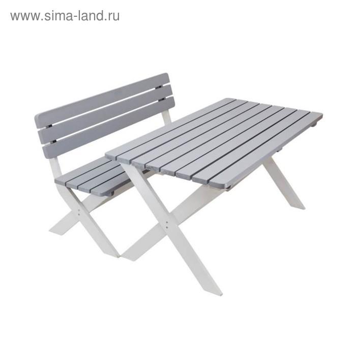 Комплект садовой мебели «Эстер» (1 стол + 2 скамьи), окрашенный