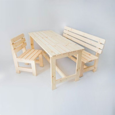 Комплект садовой мебели «Берген»  (1 стол + 2 скамьи)