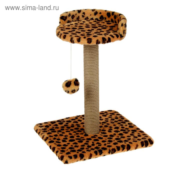 "Когтеточка малая ""Арена"" с игрушкой, 40 х 40х 55 см, джут, микс цветов"