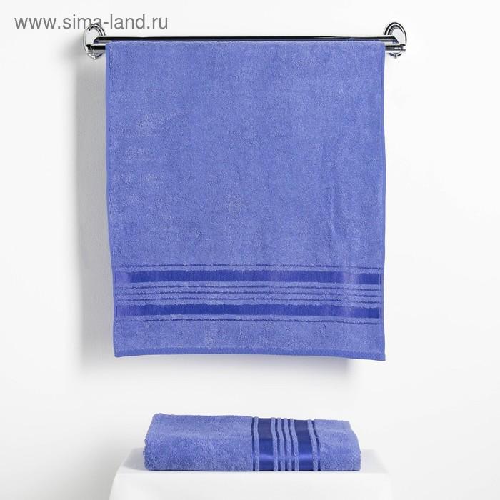 """Набор полотенец Fidan """"Incanto"""" 50х90,70х130 см. 80% бамбук,20% хл. 450 г/м2, синий"""