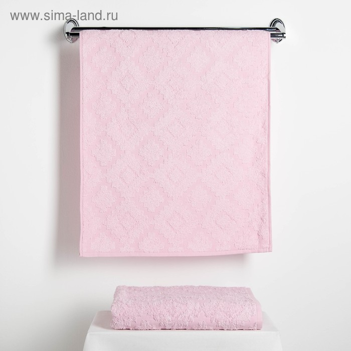 "Набор полотенец Fidan ""Unique"" 50х90,70х130 см. 80% бамбук,20% хлопок 450 г/м2,розовый"