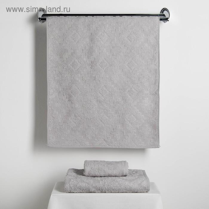 """Набор полотенец Fidan """"Unique"""" 30х70,50х90,70х130 см 80% бамбук,20% хл.450г/м2,серый"""