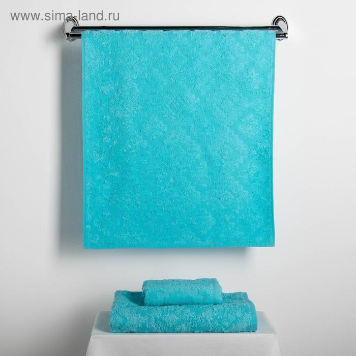 """Набор полотенец Fidan """"Unique"""" 30х70,50х90,70х130 см,(3) 80% бамбук,20% хл.450г/м2,голубой"""