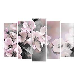 "Модульная картина ""Цветы""  80х25, 71х25, 71х25, 63х25,63х25,  125*80 см"