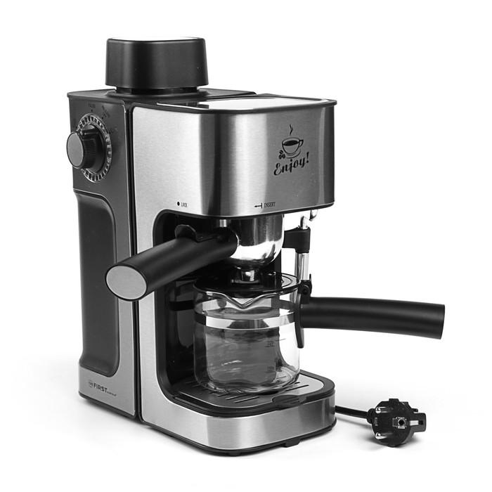 Кофеварка Espresso FIRST FA-5475-2 Stell, 800 Вт, 0.6 л, серебристая