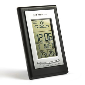 Метеостанция FIRST FA-2460 Silver with irow, часы, будильник, комнатная темп., влажн., черно Ош