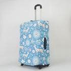 """Чехол для чемодана """"Животный мир"""", 28"""", цвет голубой"""