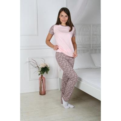 Комплект женский (футболка, брюки) КД109 цвет ваниль, р-р 44