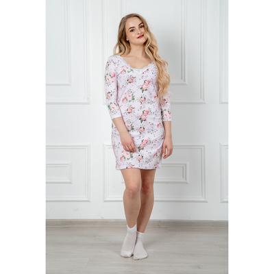 Сорочка женская 283 Аврора короткая цвет розовый, р-р 42
