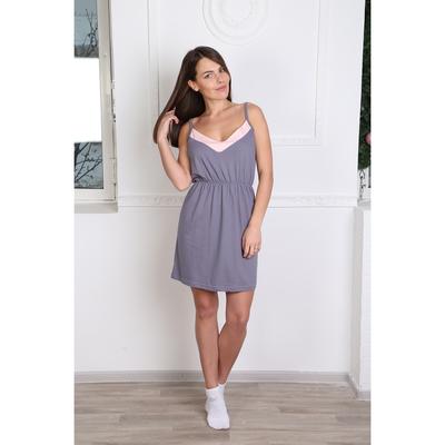 Сорочка женская  138 цвет серый, р-р 42
