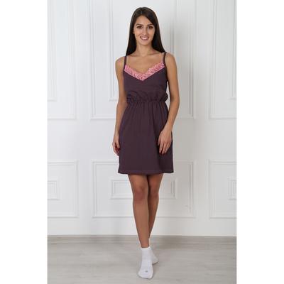 Сорочка женская  138 цвет коричневый, р-р 48
