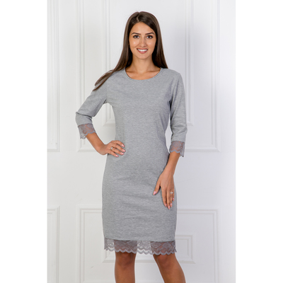 Платье женское Анна 260 цвет серый, р-р 46