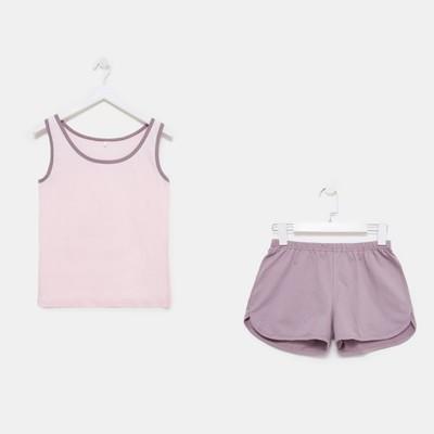 Комплект женский (майка, шорты) Весенний 156 цвет розовый, р-р 50