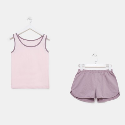 Комплект женский (майка, шорты) Весенний 156 цвет розовый, р-р 52
