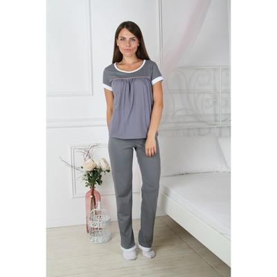 Комплект женский (футболка, брюки) 113 цвет серый, р-р 50