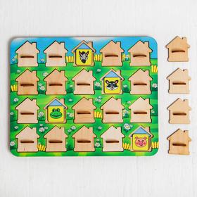 Игра для тренировки памяти «Мемо. Домики» размер окошек: 4 × 4,5 см